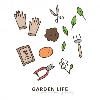 Free Stock Photo of Garden Life Icon Doodles