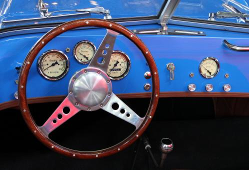 Free Stock Photo of Vintage Car Dashboard