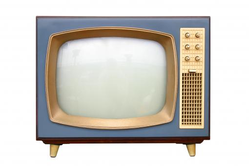 Free Stock Photo of Vintage Blue Television