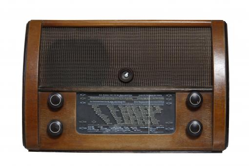 Free Stock Photo of Vintage 1950 Radio