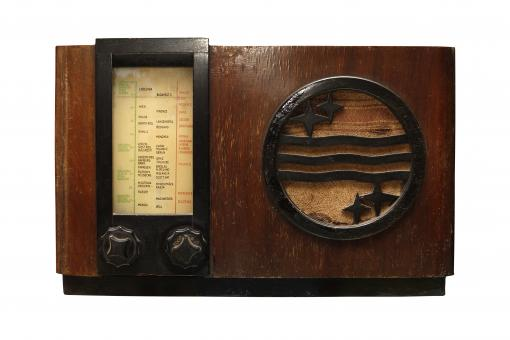Free Stock Photo of Old Wooden Radio