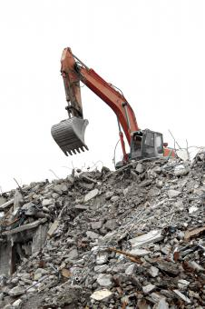 Free Stock Photo of Excavator Demolishing