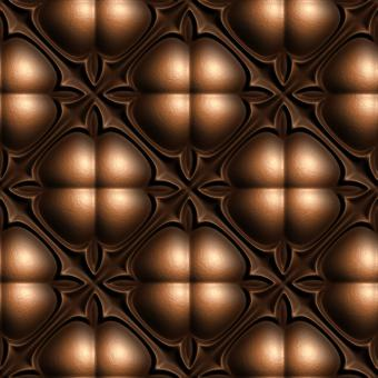 Free Stock Photo of Tiled Embossed Leather Background