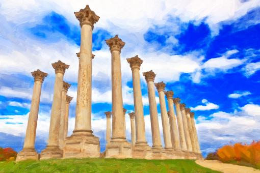 Free Stock Photo of Capitol Stroke Columns