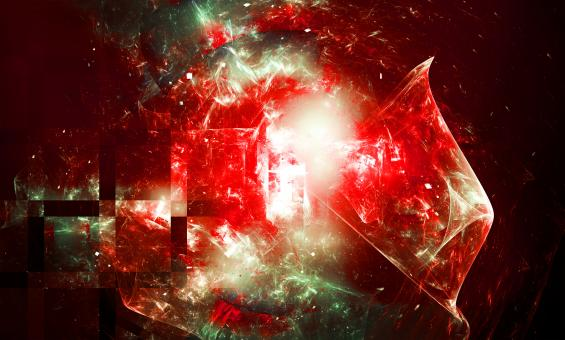 Free Stock Photo of Red Abstract Fractal Background