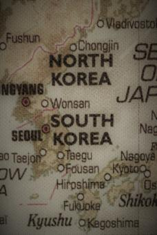 Free Stock Photo of Old map of North and South Korea