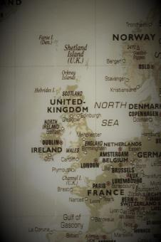 Free Stock Photo of Old map of the UK