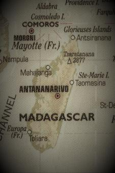 Free Stock Photo of Old Map of Madagascar