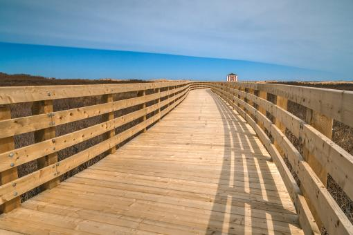 Free Stock Photo of Greenwich Beach Boardwalk