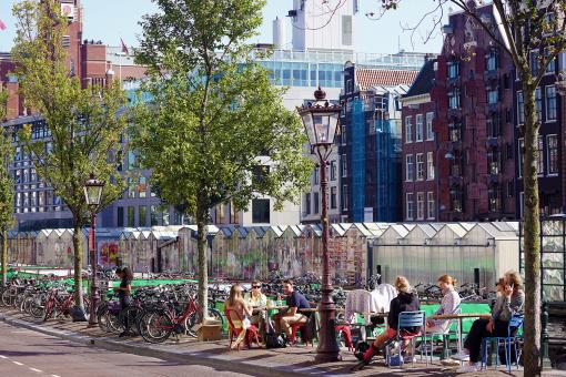 Free Stock Photo of Amsterdam Center - Terrace Space