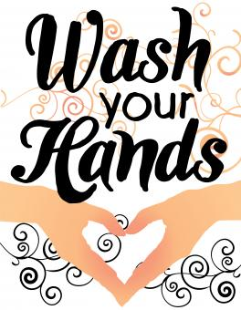 Free Stock Photo of Wash your hands - Lettering poster