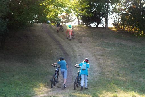Free Stock Photo of Young persons with bicycles
