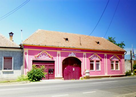 Free Stock Photo of Pink House in Romania