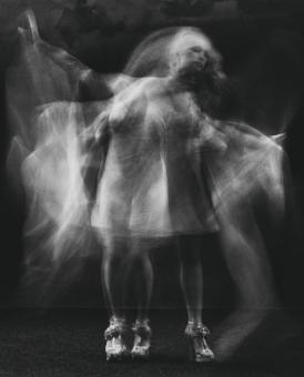Free Stock Photo of Female Dancer - Multiple Exposure - Black and White