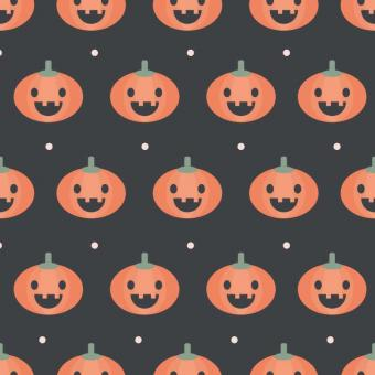 Free Stock Photo of Halloween Pumpkin Seamless Pattern