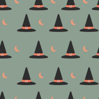 Free Stock Photo of Witch Hat Halloween Pattern