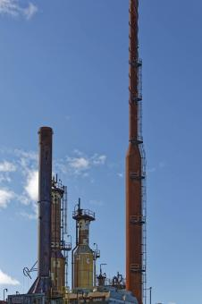 Free Stock Photo of Industrial Towers