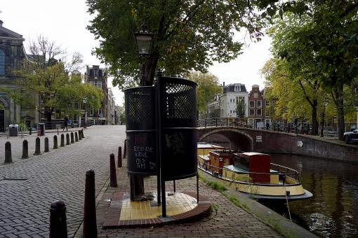 Free Stock Photo of Public toilet near a canal in Amsterdam