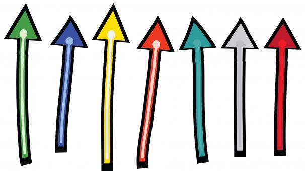 Free Stock Photo of Colorful Arrows Clipart