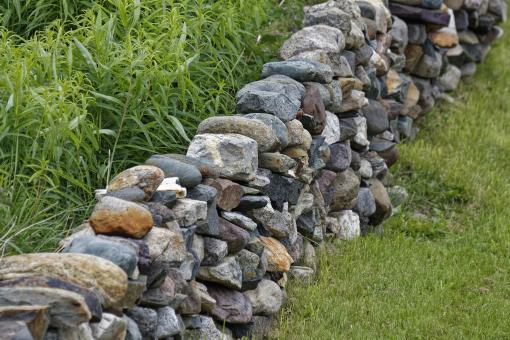 Free Stock Photo of Masonry Stone Fence