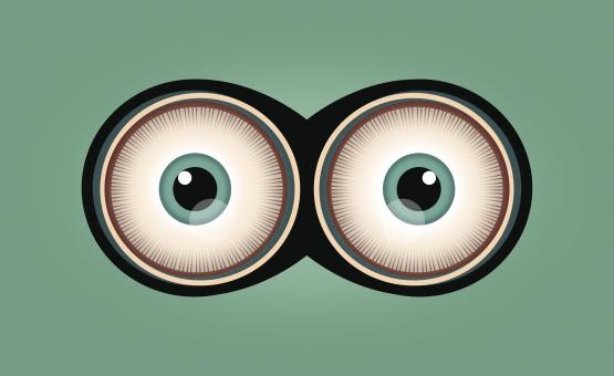 Free Stock Photo of Eyes - Cartoon Eyes - Wide Open Eyes