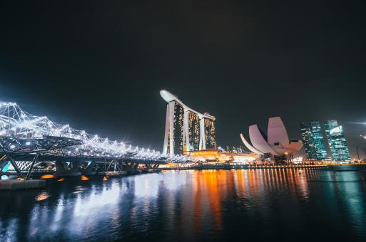 Free Stock Photo of Singapore Cityview at Night
