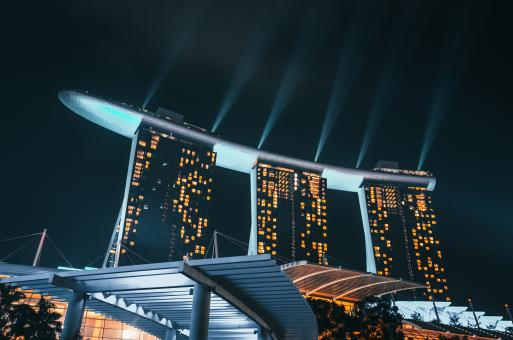 Free Stock Photo of Marina Bay Sands - Night Lights