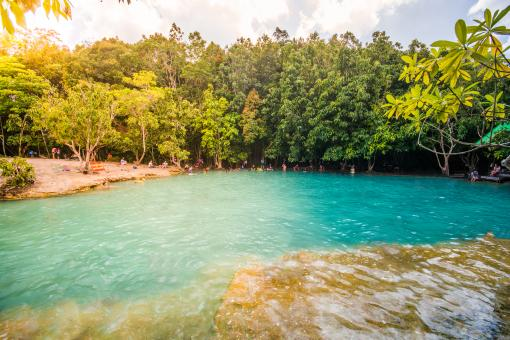 Free Stock Photo of Blue pond in Krabi, Thailand