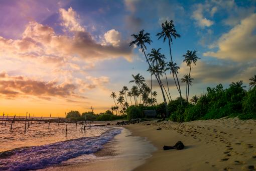 Free Stock Photo of Sunset at Sri Lanka Southern Beach