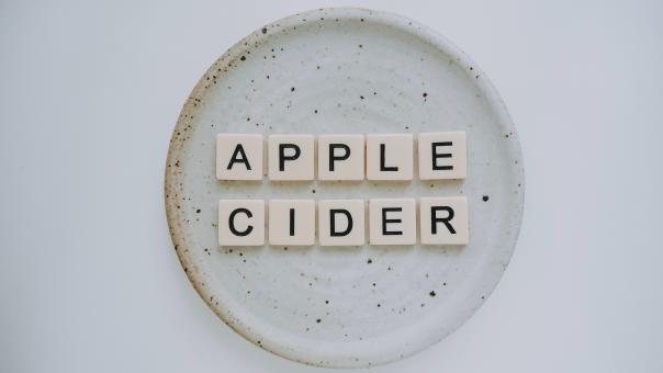 Free Stock Photo of Apple Cider Letter Blocks