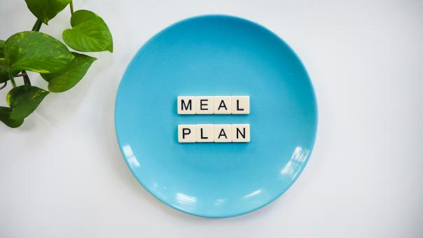 Free Stock Photo of Meal Plan Letter Blocks
