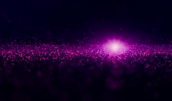 Free Stock Photo of Luminous Particles - Abstract Background - Purple