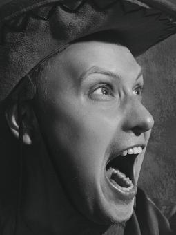Free Stock Photo of Screaming Man - Monochrome Portrait