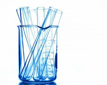 Free Stock Photo of Empty test tubes in a beaker