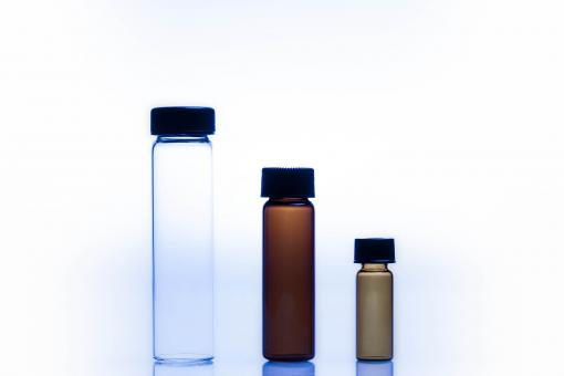 Free Stock Photo of Amber and Vials