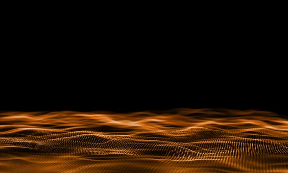 Free Stock Photo of Orange Particles on Dark Background