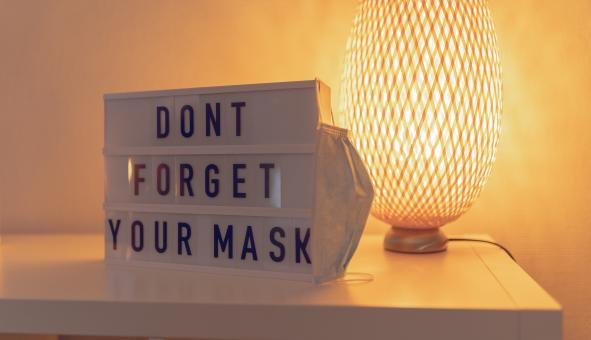 Free Stock Photo of Dont Forget Your Mask