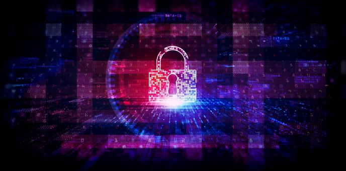 Free Stock Photo of Digital Padlock on Technology Background - Web Security