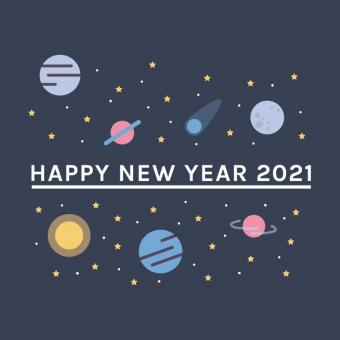 Free Stock Photo of Galaxy Design New Year