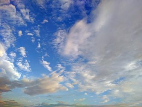 Free Stock Photo of Blue Sky and Clouds Backdrop