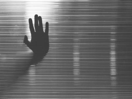 Free Stock Photo of Crying for Help - Terror - Hand Silhouette on Glass