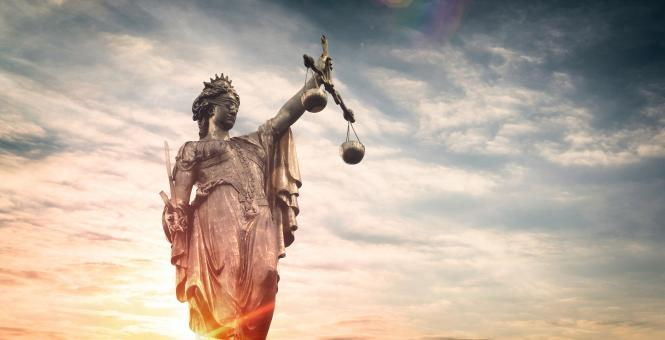 Free Stock Photo of Justice Symbol - Justitia - Statue of Justice - Sunset