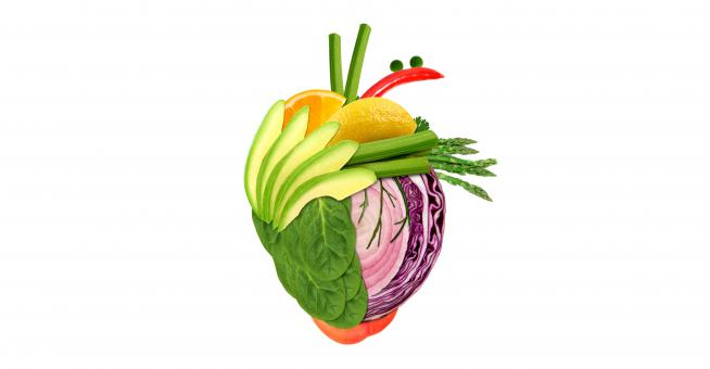 Free Stock Photo of Healthy Eating Concept - Heart Made of Fresh Vegs