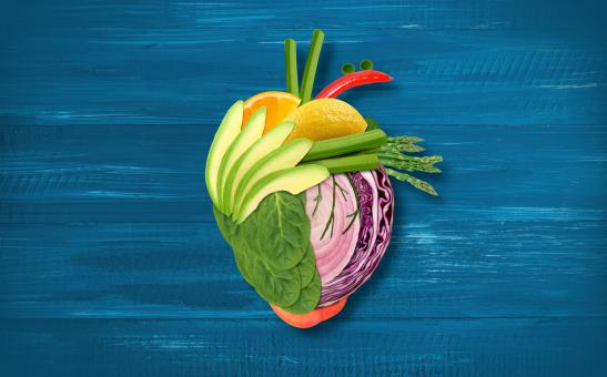 Free Stock Photo of Healthy Eating - Heart Made with Fruits and Vegetables
