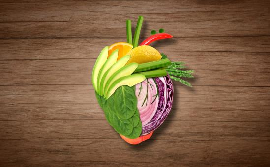 Free Stock Photo of Healthy Eating Concept - Heart on Wooden Background