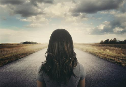 Free Stock Photo of Girl on the Road - Lifes Choices and Challenges