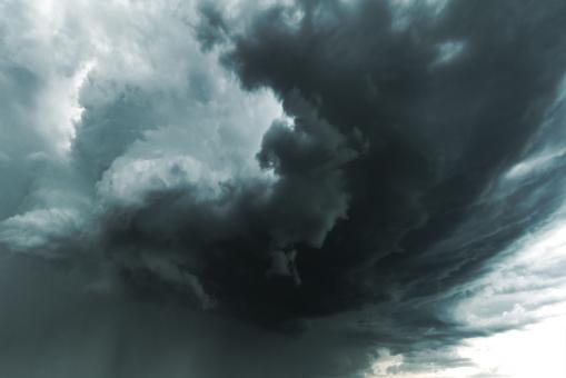 Free Stock Photo of Darks Clouds - Large Supercell Forming