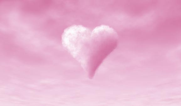 Free Stock Photo of Heart-shaped Cloud on Pink Background - Love - Valentines Day