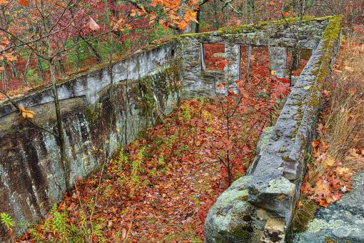Free Stock Photo of Autumn Ruins of Kunes Camp