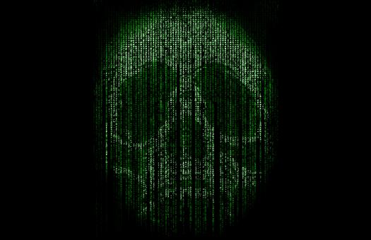 Free Stock Photo of Skull Formed by Computer Code -  Cyber Crime Concept